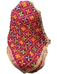 Beautiful Phulkari Dupatta In Queen Colour