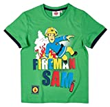 Feuerwehrmann Sam Kollektion 2018 T-Shirt 92 98 104 110 116 122 128 134 140 Shirt Fireman Sam Jungen Top Neu Grün (Blau-Grün, 104-110; Prime)