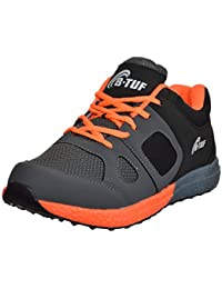 B-Tuf STAMINA AntiSkid Mesh Marathon Running Casual Outdoor Sports Shoes Men's/Women's (Gray/Black/Orange)