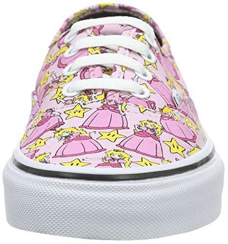 Vans Authentic, Sneakers Basses Mixte Adulte Rose (Nintendo Princess Peach)