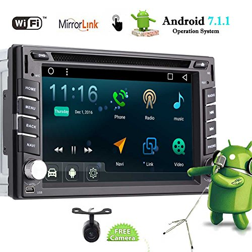 Android 7.1 Auto-Stereo-Doppelt-L?rm-Auto-DVD-Spieler Autoradio Video FM / AM-Radio mit Bluetooth in Dash 2 Din GPS Navigation Unterst¨¹tzung Fastboot Wifi USB SD Mirrorlink Backup-Kamera 6.2 Zoll 5-Punkte Touch Screen