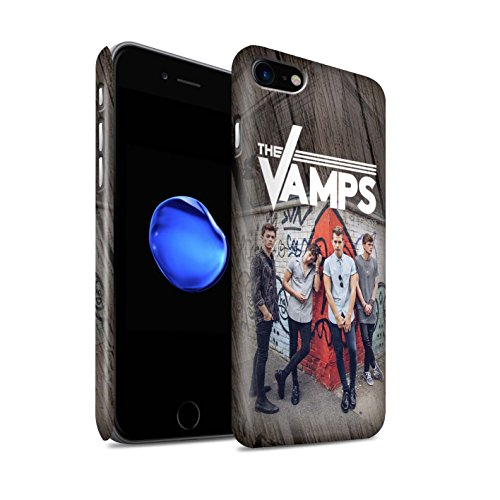 Offiziell The Vamps Hülle / Matte Snap-On Case für Apple iPhone 8 / Pack 6pcs Muster / The Vamps Fotoshoot Kollektion Holz-Effekt