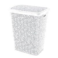 Laundry Basket Lace Design (Soft White)