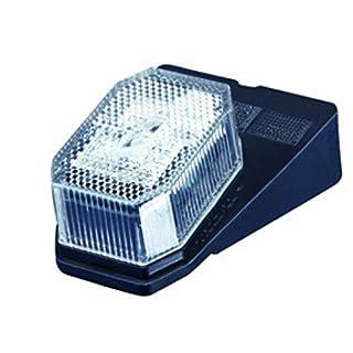 2 Stck. Aspöck Flexipoint Begrenzungsleuchten Umrissleuchten Positionsleuchten mit Halter LED weiß Anhänger LKW Wohnwagen Nutzfahrzeuge Trailer
