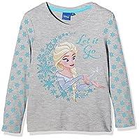 Disney Girl's Frozen Queen Forever T-Shirt, Grey, 6 Years