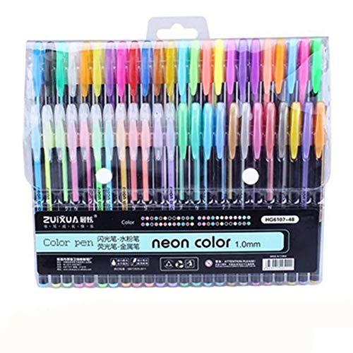 Xuba 48colori pastello penne gel glitter fluorescente colore metallizzato pennarello scuola studenti cancelleria per ufficio