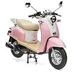 Nova Motors Retro Star ie 50 rosa-weiß Euro 4-25km/h Mofa - fahrbereite Lieferung inklusive