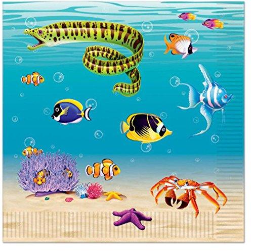 Beistle Unter dem Meer Servietten (2-lagig) -