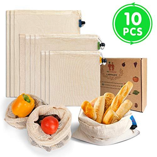 LAPPAZO Bolsas Reutilizables Compra Frutas Verduras