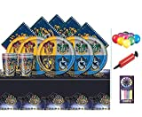 Harry Potter Party Pack Kids Birthday Kit de vaisselle pour 16-plaques, tasses, serviettes, couverture de table et Baloons gratuit