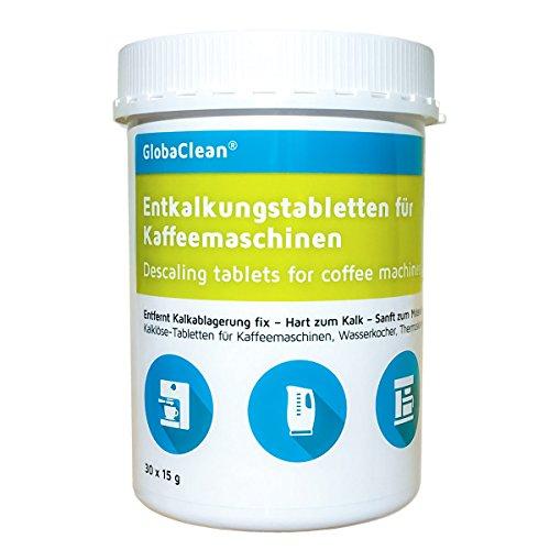 Entkalkungstabletten für Kaffeevollautomat, Kaffee-Maschine, Wasserkocher | 30 Entkalker-Tabs...