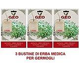 OFFERTA 3 CONFEZIONI SEMI BIO DI ERBA MEDICA PER GERMOGLI 40GR SEMENZAIO SEMENTI