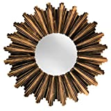 Antiqued Bronze Sunburst Wall Mirror - OF546