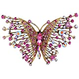 Butler and Wilson Large Pink Butterfly Brooch