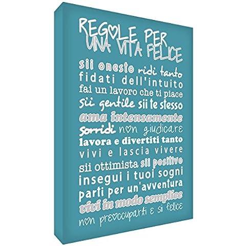 Feel Good Art HPLF1624-07IT Quadro su Tela da Muro in Moderno Stile Tipografico con Testo