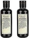 Khadi Herbal, Natural Amla & Bhringraj Shampoo, 420ml Capacity (Red)- Pack Of 2