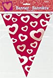 Valentines Day Hearts Afire Plastic Flag Banner Bunting Decoration 12ft