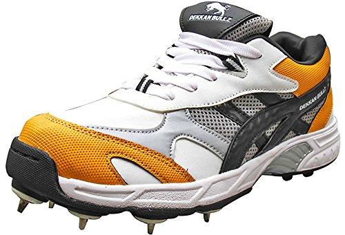 Dekkan Bullz Men's Mesh Full Spike Cricket Shoes, UK 11