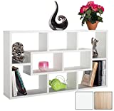 RICOO Eckregal Wandregal Wandregale Weiss WM050-W Schwebendes Schmales Hängeregal Würfel Regal Ablage Schweberegal Bücherregal Wandboard Standregal Organizer Lowboard Möbel Halterung Mini Rack Holz