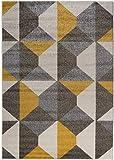 Carpetforyou Moderner Geometrischer Teppich Desert Stones Rhombus Dreieck bunt in 4 Größen für Wohnzimmer oder Jugendzimmer (160 x 230 cm)
