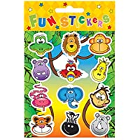 HENBRANDT 24 Sheets of 12 JUNGLE STICKERS
