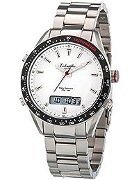 Eichmüller–Acero inoxidable Hombre Reloj analógico digital reloj alarma cronómetro Calendario 5ATM T480de