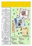 Ursus 62550015 - Buchstaben und Zahlen Stream, 3 Blatt ca. 23 x 33 cm, Sonnengelb