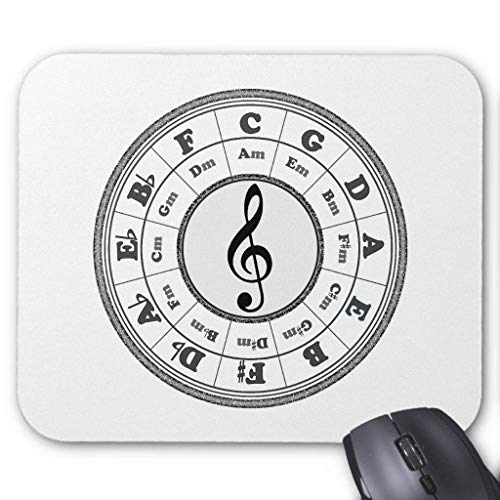 Computer Accessories Anti-Friction Wristband Musical Circle of Fifths Mouse Pad 18X22