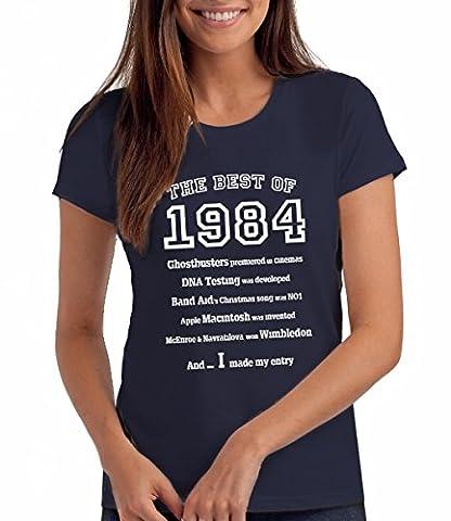 The Best of 1984 - T-shirt cadeau pour le 33e anniversaire - Femmes: Ny, 2XL