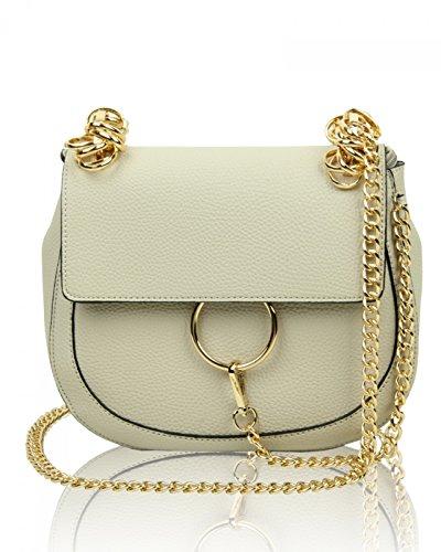 Chloe Handtasche Weiß (LeahWard Damen Chic Cute Umhängetasche Schöne große Marke über Körper Handtasche 9232 (Perle 24.5X16X12 cm))