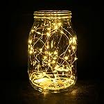 ZWOOS 6PCS/set LED Luce Calda String Luci a Pile LED Fata Micro luci 2M Powered Stellata Della Luce Della Stringa per Giardini, Casa, Matrimoni, Feste di Natale (2*CR2032 batterie inclusa)