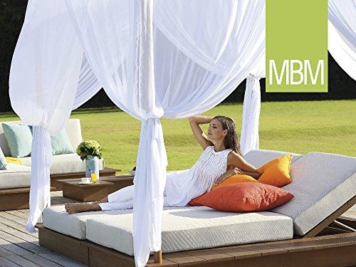 MBM Stylische Resysta Sonnenliege La Villa Daybed für Pool/Garten/Terrasse