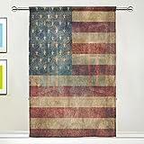 Use7 Vorhang, Retro-Stil, Amerikanische Flagge, 139,7 x 19,8 cm, 1 Stück, Moderne Fensterbehandlung, Paneel-Kollektion für Wohnzimmer, Schlafzimmer, Heimdekoration