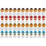 22x Tischfußball Figuren für 5/8 Zoll bzw. 15,9 mm Stangen, für VOLLSTANGEN + HOHLSTANGEN, inkl. Schrauben- und Mutternsatz, Tischkicker Kicker