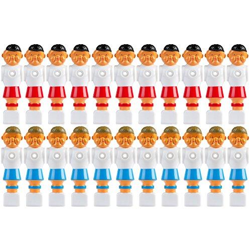 Maxstore 22x Tischfußball Figuren für 5/8 Zoll BZW. 15,9 mm Stangen, für VOLLSTANGEN + HOHLSTANGEN, inkl. Schrauben- und Mutternsatz, Tischkicker Kicker