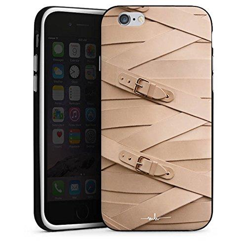 Apple iPhone 5 Housse étui coque protection Boucle Cuir Mode Housse en silicone noir / blanc