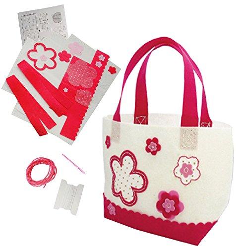 Bastelset-Filz-Tasche-Blumen-Blten-zum-Sticken-einfaches-Nhen-per-Hand-Filztasche-Komplettset-filzen-Creativ-Filzset-zum-Basteln-Filztaschen-Handarbeiten-mit-Zubehr-erstes-Nhen-Handarbeit-Henkeltasche