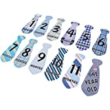 MagiDeal Cute Baby Monthly Necktie Sticker Party Photo Prop Months 1-12