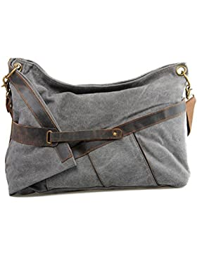 GSPStyle Unisex Canvas Herrentasche Schultertasche Damentasche Umhängetasche Cross Body Stil