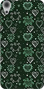 The Racoon Lean printed designer hard back mobile phone case cover for HTC Desire 820. (Green Grow)