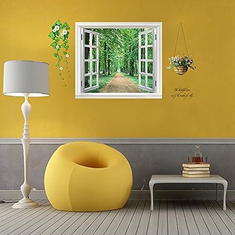 HJHGE Wall stickers blank visualizzazione finestra camera da letto soggiorno parete decorazione,85*55cm