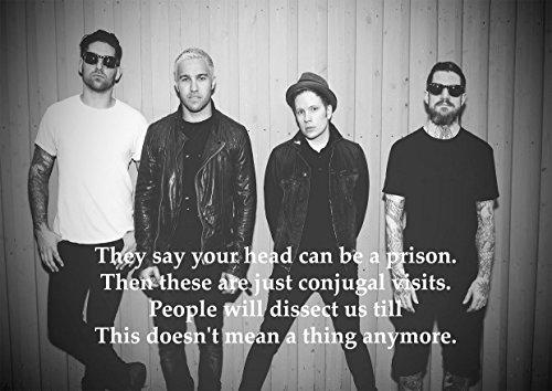 Fall Out Boy-Der Take über, die Pausen über-Liedtext-tolle Rock Metall Album Cover Design Musik Band laminiertes 150Mikron Hochwertiger Poster Bild Foto Druck Größe A4 (Big Boy-logo)