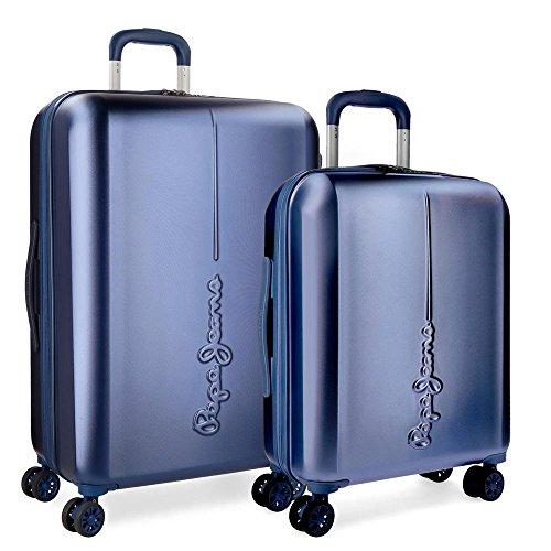 Set valigie rigide 55-70cm Pepe Jeans Cambridge Azzurro