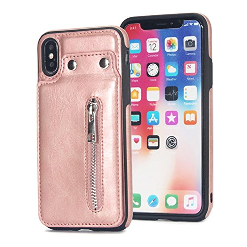 UMCCC Iphonex-Handy-Fall-Leder-Kasten All-Inclusive, Anti-Fall-Münzen-Geldbeutel Kann Karten-Paket Setzen (Samsung Vuitton Fall Louis)