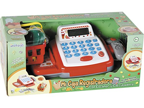 IMITOYS Caja Registradora Con Calculadora, Esc�ner, Luces, Sonidos y