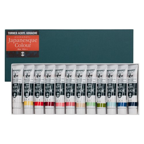 Turner Acryl Gouache Japanesque 12 Color Set 20 ml Tubes by Turner Colour