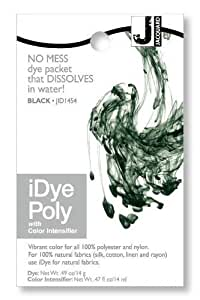 Jacquard iDye Poly - Fabric Dye for Polyester and Nylon (Various Colours Available) (Black) by Jacquard