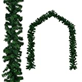 vidaXL Weihnachtsgirlande PVC 10m Tannengirlande Türgirlande Weihnachtsdeko