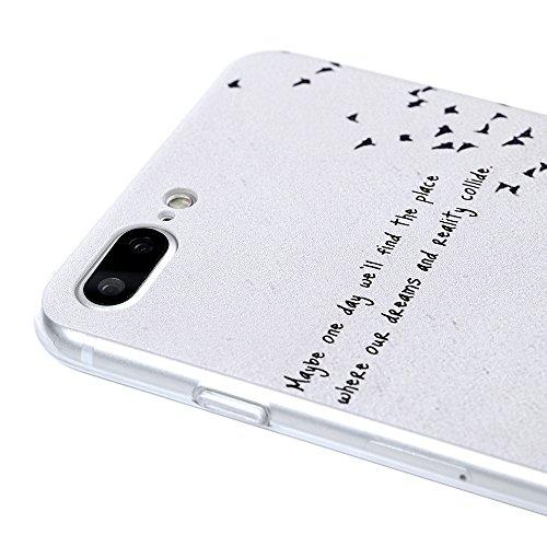 """YOKIRIN Coque pour iPhone 7 Plus 5.5"""", Housse PC Plastique Couverture Complète Doux Étui Transparent Ultra Mince Coque Motif de Peinture Cover Protection de Téléphone Case - Don't Touch My Phone Arbre"""