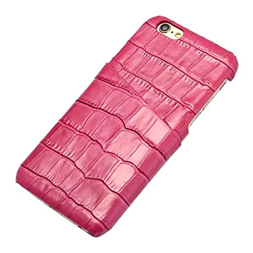 iPhone 6 (4.7 inch) Coque,EVERGREENBUYING en Fibre de Carbone [Crocodile Pattern] IPHONE 6/6S Cases Housse Etui Shock-Absorption Bumper et Anti-Scratch Back pour iPhone 6 / 6s Noir Rose